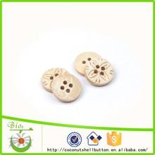 Bleach blanco grabado coconut shell botón, botón hermoso