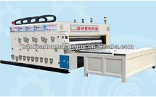 chain feeding 4 colors printer slotter machine, semi automatic 1-4 colors printer slotter machine