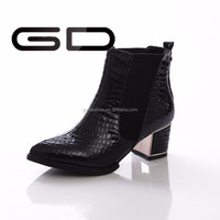 2015 China Quilted Moto Ankle Bootie for women factory wholesale