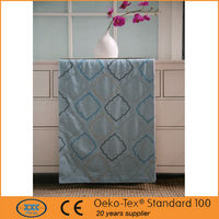 North America popular geometrical embroidered latest designs of curtains