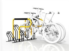 four pcs portable vertical metal powder coating bike stand