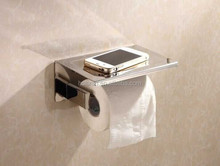 toilet paper holder/toilet spare roll holder with phone shelf NO.L8801