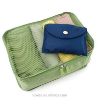 Folding Clothes mesh travel Pouch (size S) wanna be a traveler