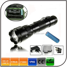 Waterproof ultrafire cree xm-l t6 led flashlight 502b high power police flash light