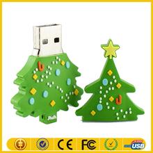 Christmas Tree PVC USB Flash Drive Gifts USB 2.0 Driver