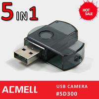 2013 New Products USB Hidden Camera 5 IN 1 keychain hidden camera