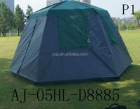 Outdoor automatic triple double hexagonal tent