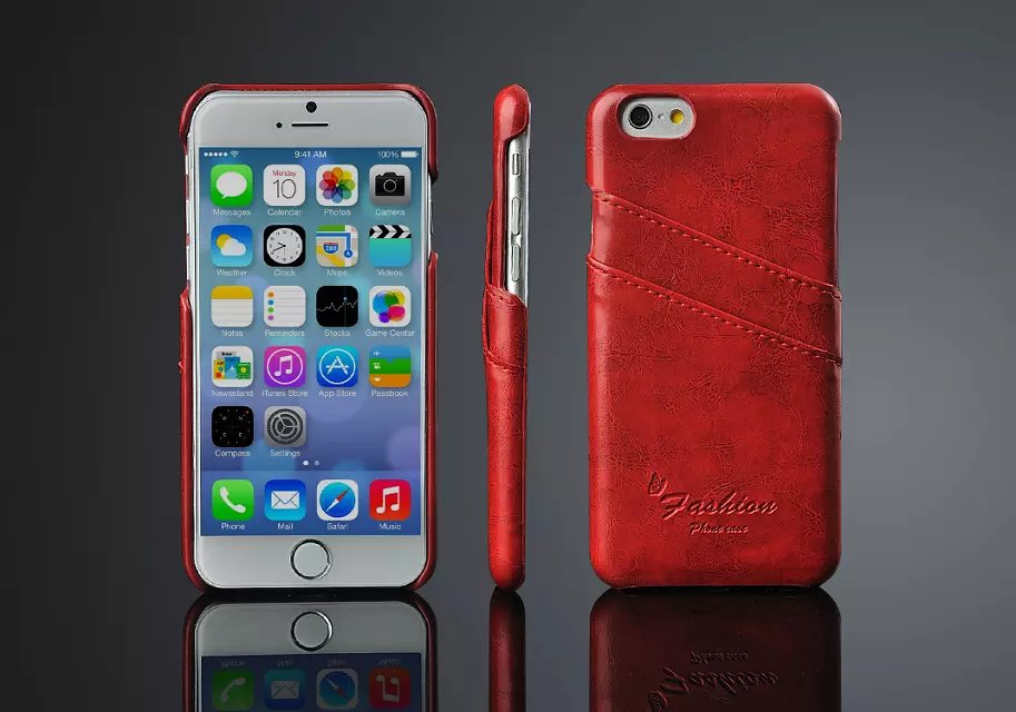 Wholesale Price Newest Leather Pouch Slip Case For iPhone 6
