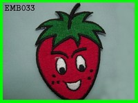 Hot Selling On Alibaba Strawberry Embroidery With Strass Patches For T shirt