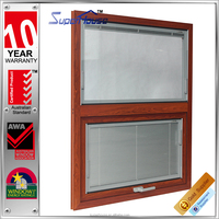 AS2047 Australia standard double glass australia windows with built in blinds