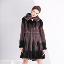Popular mink fur coat /winter long minkcoat for women