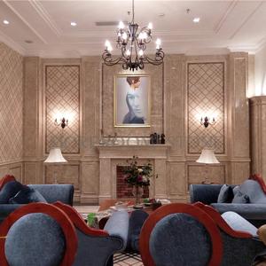 Chorro de agua de mármol piso burberry patrón beige de mármol azulejo de piso y la pared para hotel