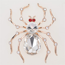 Top quality brooch for men's suit fashion design channel brooch rhinestone spider animal brooch