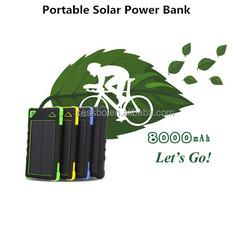 Portable Power Bank Solar Panel 8000mah Solar Power Bank,Waterproof Power Bank
