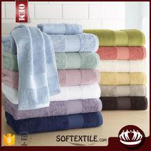 wholesale high quality solid color plain dyed 100% bamboo fiber bamboo towel