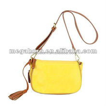 2015 Latest Messenger Bag Bright Yellow Shopping Bag Lady Shoulder Bag