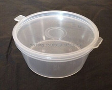 1oz plastic sauce container with lid,hinged lid sauce container