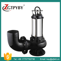 2015 Best Selling Single Suction Dirty Water Centrifugal Portable Submersible Sewage Pump