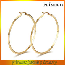 PRIMERO Classic stunning stainless steel set hoop earring Round Brass Fashion Big Hoop Earrings Without Plating
