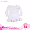 New Toddler Girls Blank Summer Ruffle Tops long sleeves Knit t Shirts Children 0-10years