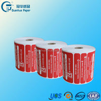 White color Pos paper roll 80mmx80M with Plastic core for Supermarket