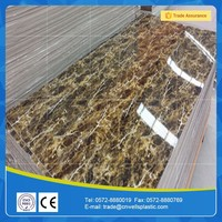Eco Faux marble baseboard TV background wall decoration UV panels