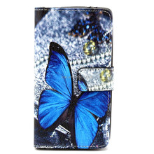 Butterfly Art Beautiful Pu Leather Case for Lg G3 Mini