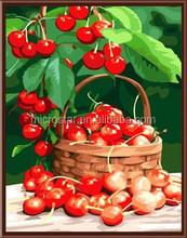 Cavans fruit oil painting by number cherry