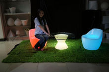 Waterproof Outdoor multi-color changing led sofa,led light sofa for leisure center/home/ commercial mall