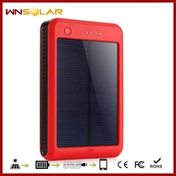 20000mAh solar panel, solar phone charger, solar cell phone charger with LED torch