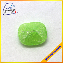 yuanyi jewelry large faceted gemstones light green cubic zirconia ice crush stones