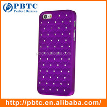 Set Screen Protector Stylus And Case For Iphone 5 , Hard Plastic Purple Bling Diamond Shenzhen Mobile Phone Shell