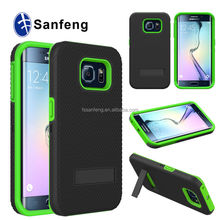 For Samsung galaxy S6 edge built-in kickstand case / cheap factory wholesale cellphone case for Galaxy S6 edge G9250