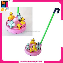 10190266 Lighting Pull Along merry-go-round Plastic Pull toy