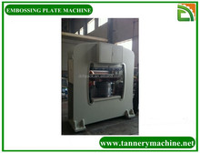 automatic leather embossing machine for tannery machine