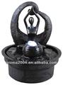 mini de yoga fuente de agua de la escultura abstracta