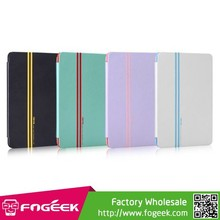Paypal Accepted Devia Smart Series Stripes Smart Leather Stand Case for iPad Air