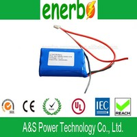 12V 2000mAh Li Polymer Rechargeable Li-Ion Battery Pack from Dongguan Battery Manufacturer