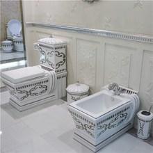 2015 European Style Luxury Ceramic Artistic Toilet set Elegant Sanitary Ware
