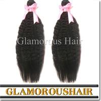 Indian hair yaki straight human hair weft/ hair weaving 22 inches yaki straight weave