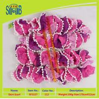 scarf exporters in china novel product China fashion fishing net yarn scarf knitted