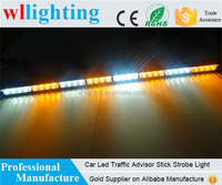 Mix White + Yellow Car 32 LED emergency Stick Light Grill traffic advisor warning light 1Watt/LED