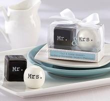 """""""Mr. & Mrs."""" Ceramic Salt & Pepper Shakers For Wedding Gift"""
