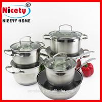 luxury stainless steel casserole bottom cookware set