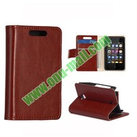 Crazy Horse Texture Leather Flip Case for Nokia Asha 501 with Card Slots and Magneti