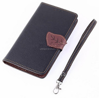 Leather Wallet Stand Flip Cover With Card Holders case for Note 3