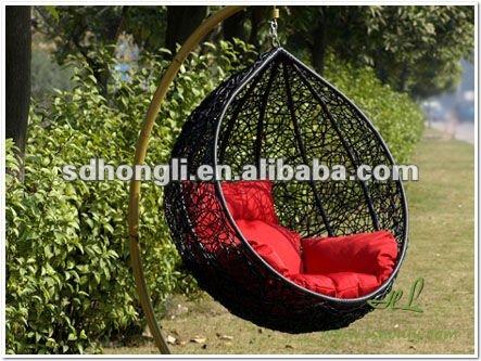 Jardim suspenso cadeira pod e cadeira de vime
