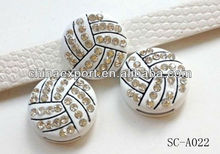 Volleyball charm slider charms
