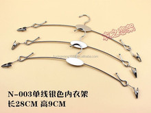different size lingerie hanger metal chips for displaying