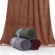 Dark colors jacquard on border Sirospun bath towel